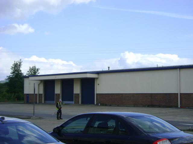 Land survey and elevations of a warehouse in Aylesford
