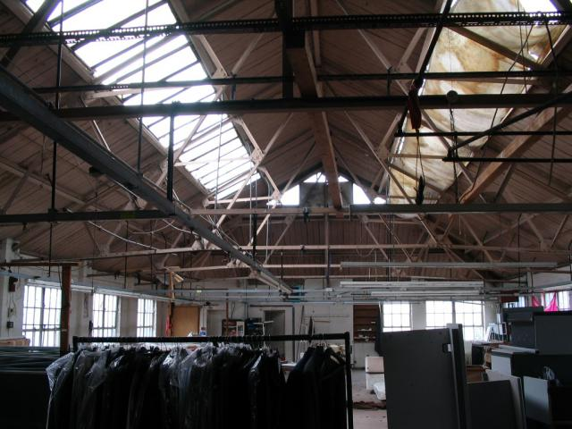 Land survey, floor plans and elevations of a warehouse in Hackney