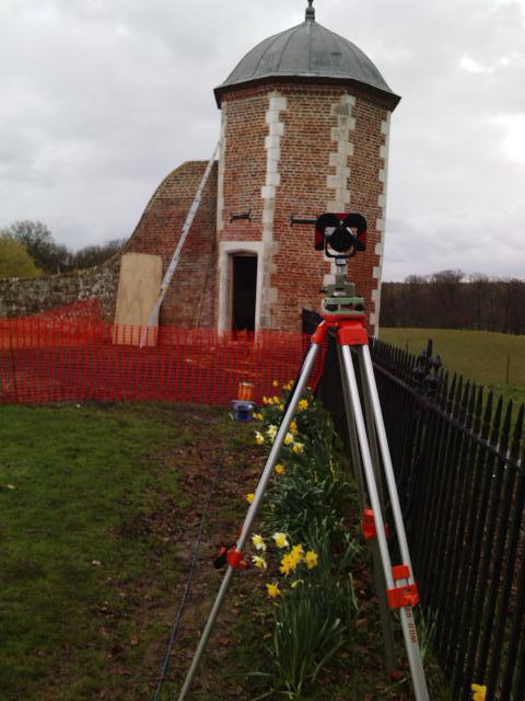 Monitoring of a listed structure in Bramshill near Hook